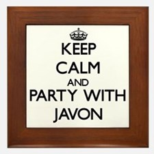 Keep Calm and Party with Javon Framed Tile