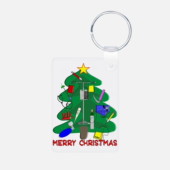 Merry Christmas Medical Keychains