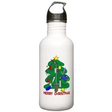 Merry Christmas Medica Sports Water Bottle