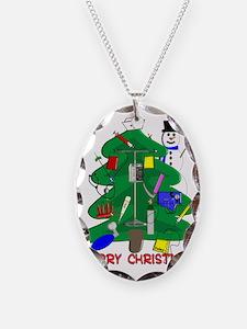 Merry Christmas NURSE TREE Necklace