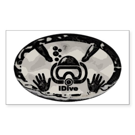 idive metallic PAINT Sticker (Rectangle)