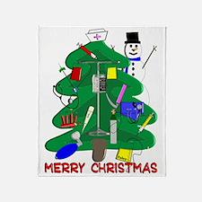 Merry Christmas NURSE TREE Throw Blanket