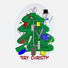 Merry Christmas NURSE TREE Oval Ornament