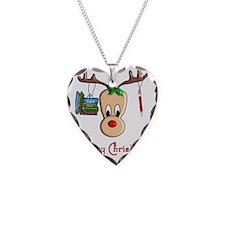 Reindeer Teacher Necklace