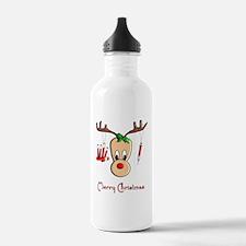 Phlebotomist Reindeer Water Bottle