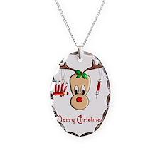 Phlebotomist Reindeer Necklace