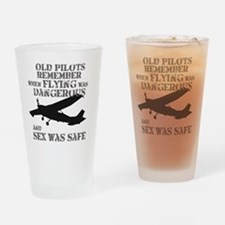 Old Pilots AI PNG Drinking Glass