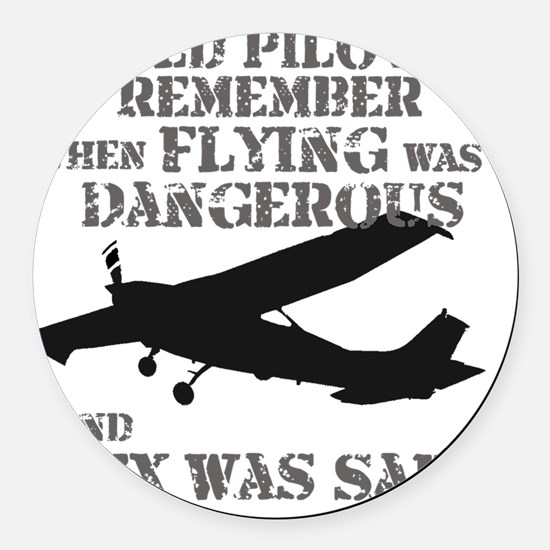 Old Pilots AI PNG Round Car Magnet