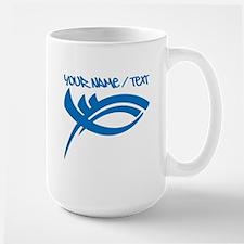 Blue Jesus Fish Mugs