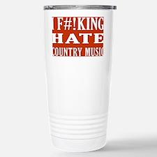I Hate Country Music Travel Mug