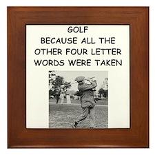funny golf golfer golfing joke Framed Tile