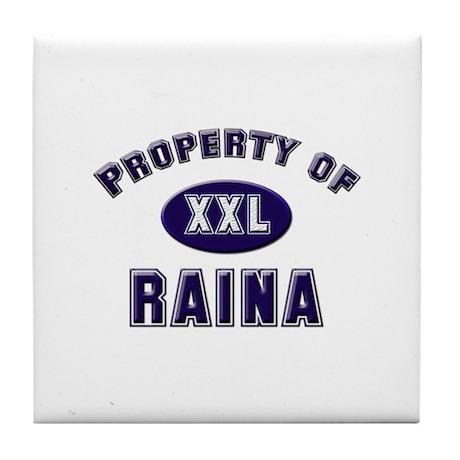 Property of raina Tile Coaster