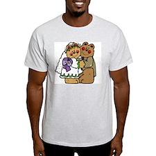 Wedding Bears Ash Grey T-Shirt
