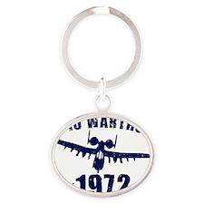 varsity-a10-72-navy Oval Keychain