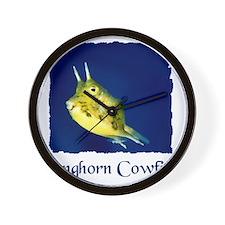 cowfish shirt Wall Clock