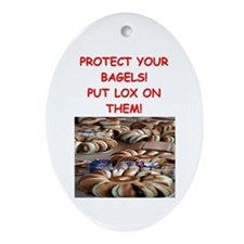 bagels and lox Ornament (Oval)