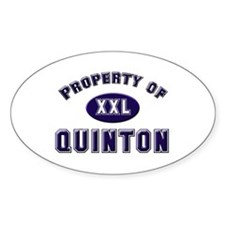 Property of quinton Oval Decal