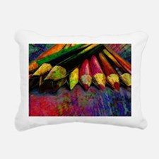 geo_lights_Colored_penci Rectangular Canvas Pillow