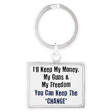 I-ll-keep-my-money-(white-shirt Landscape Keychain