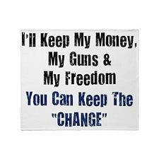 I-ll-keep-my-money-(white-shirt) Throw Blanket