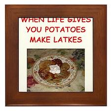 latke joke Framed Tile