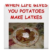 latke joke Tile Coaster