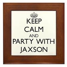 Keep Calm and Party with Jaxson Framed Tile