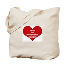 Greatest Valentine: Moses Tote Bag
