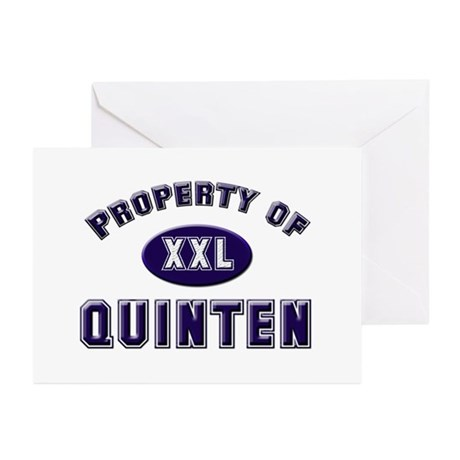 Property of quinten Greeting Cards (Pk of 10)