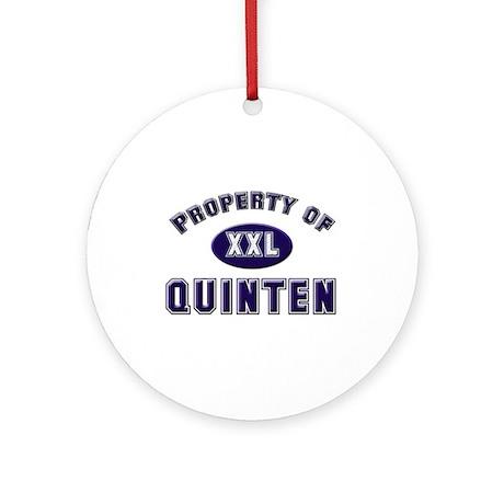 Property of quinten Ornament (Round)