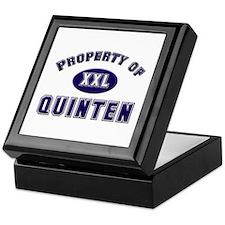 Property of quinten Keepsake Box