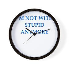 no divorce Wall Clock