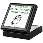lazy husband divorce joke Keepsake Box