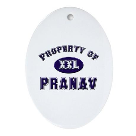 Property of pranav Oval Ornament