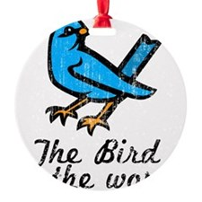Bird Word Ornament