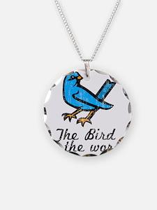 Bird Word Necklace