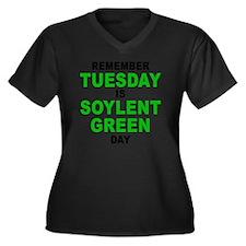 Tuesday Women's Plus Size Dark V-Neck T-Shirt