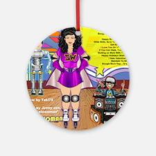 skatewomanalbumcover-back Round Ornament
