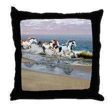 Painted Ocean Throw Pillow