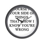 women are wrong Wall Clock
