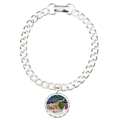 Xmas Magic - Pomeranian Charm Bracelet, One Charm