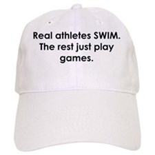 swimmer slogan copy Baseball Cap
