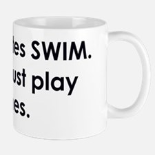 swimmer slogan copy Mug