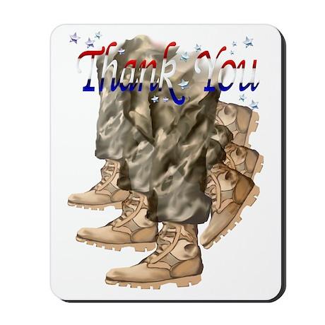 Thank You Vets Trans Mousepad