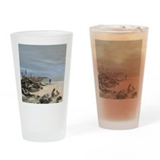 Half Moon Bay Painting Section Drinking Glass