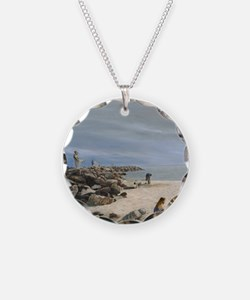 Half Moon Bay Painting Secti Necklace