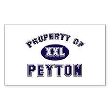 Property of peyton Rectangle Decal