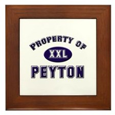 Property of peyton Framed Tile