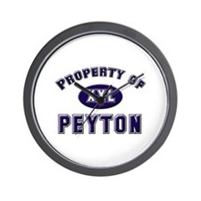 Property of peyton Wall Clock