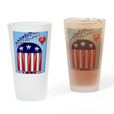 Remember Our Vets PosterP Drinking Glass